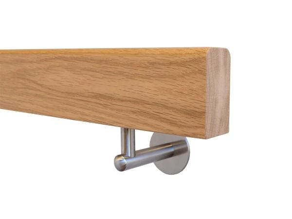 Holzhandlauf Eiche Behandelt Set mit Halter