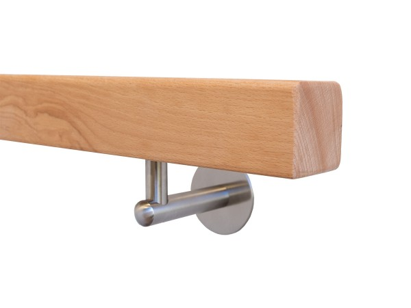 Holzhandlauf Buche Set mit Halter