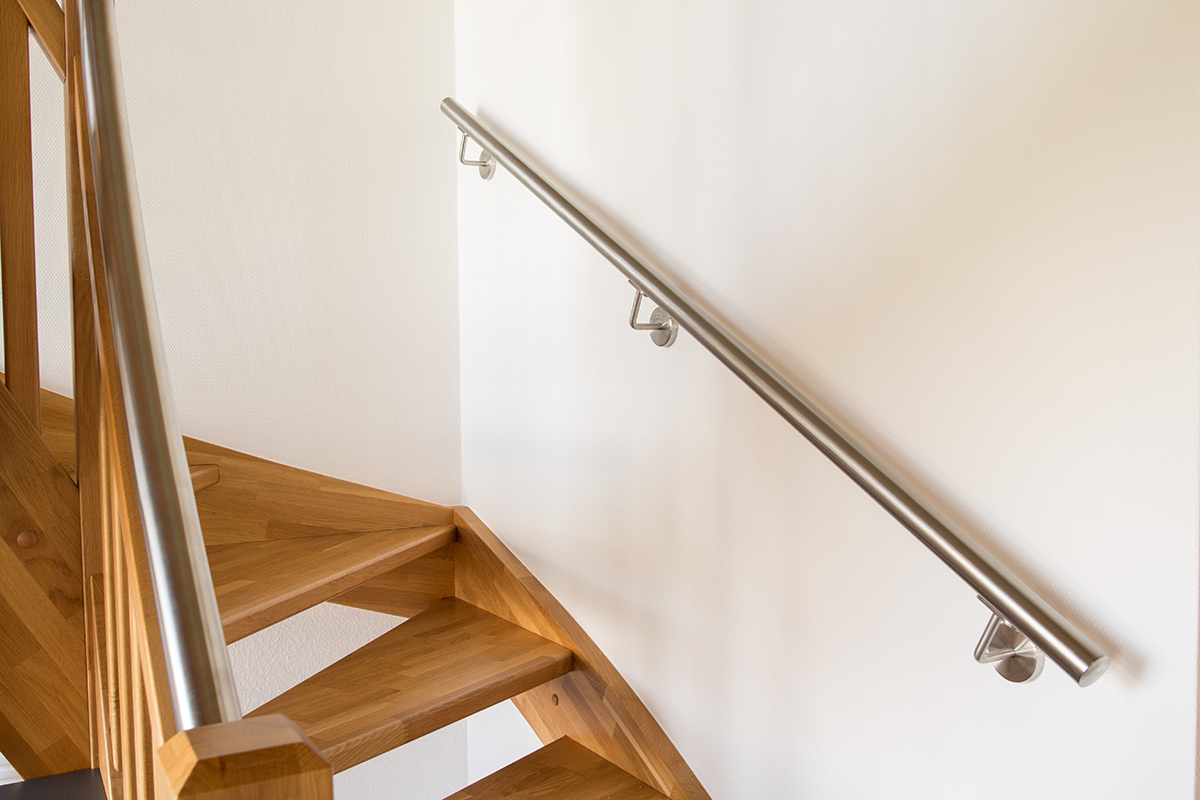 edelstahl handlauf treppe