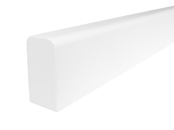 Holzhandlauf Rechteckig in Buche weiß