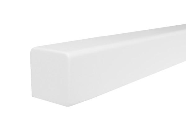 Holzhandlauf Buche Quadratisch in weiß