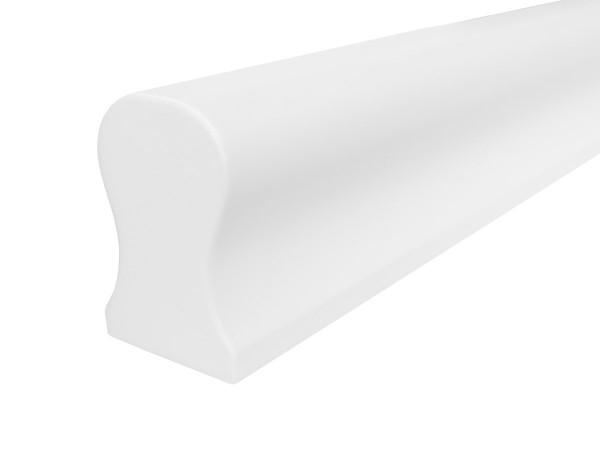 Holzhandlauf Buche Omega Form in weiß